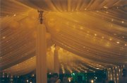 Rope and Pole Marquee, Silk Lining, Fairy Lights